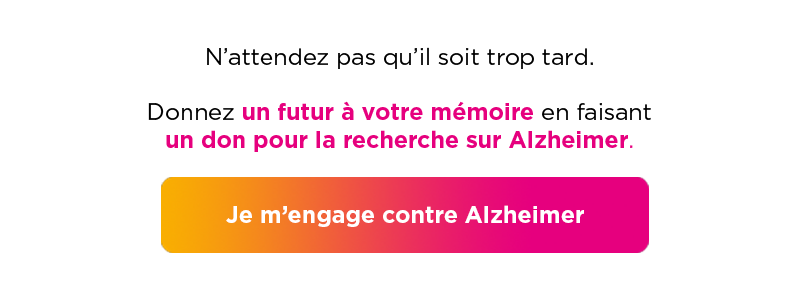 Je m'engage contre alzheimer
